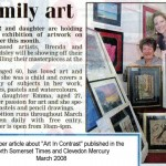 Newspaper featuring Brenda and Emma from Art in Contrast Exhibition 2008