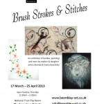 Brush Strokes & Stitches Poster